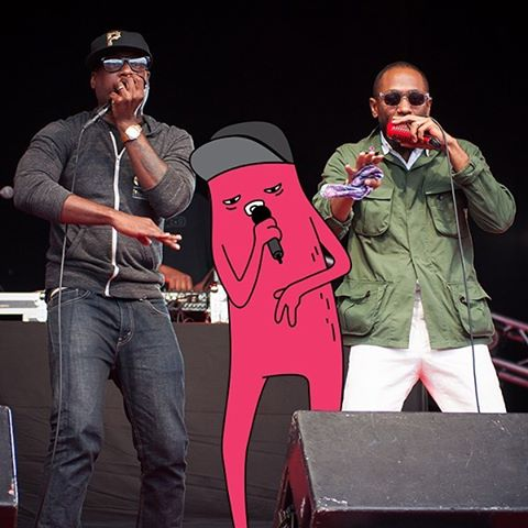 Abel and Talib Kweli on stage