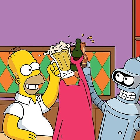 Beers on Abel! With Bender & Homer