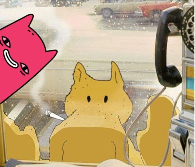 Abel and Quasimoto in a payphone