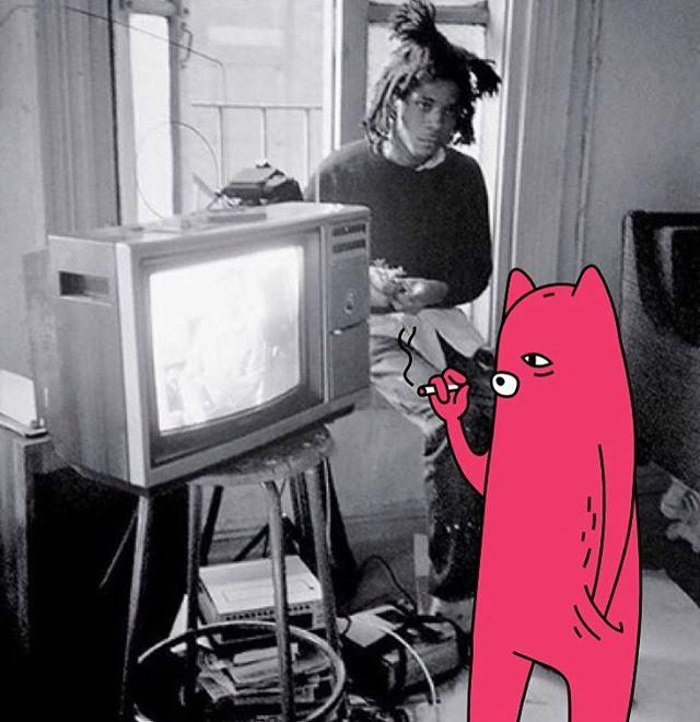 Throwback smokin with Basquiat