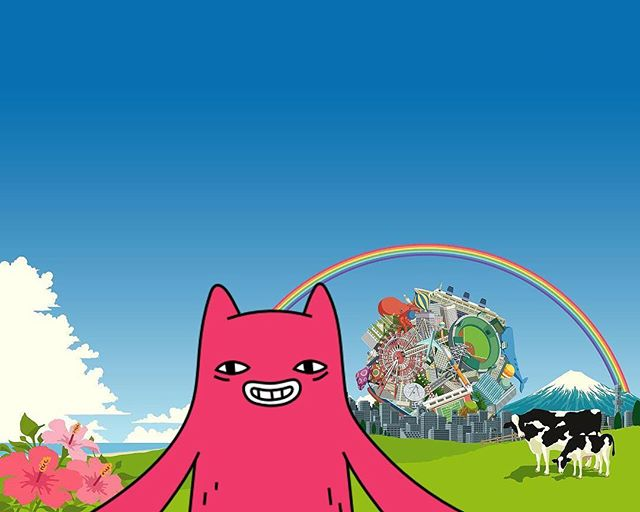 Abel escaping the magical ball in Katamari Damacy